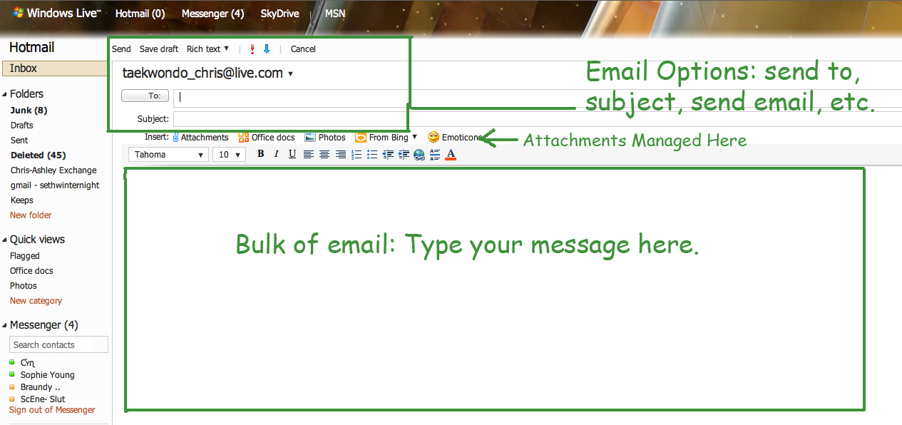 hotmail and how to use